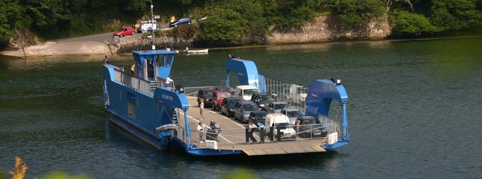 the King Harry car ferry which crosses the River Fal between Philleigh and Feock