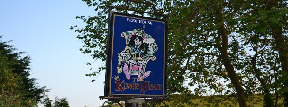 sign outside the Kings Head pub at Ruan Lanihorne