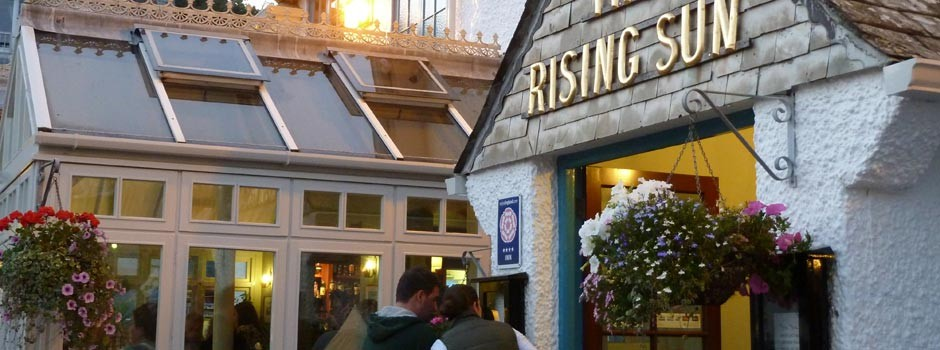 outside view of the Rising Sun pub in St Mawes