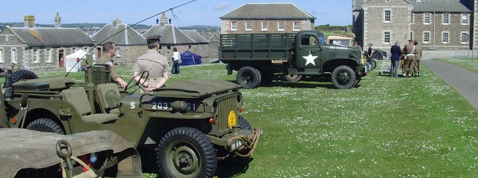 WW2 re-enactment at Pendennis castle in Falmouth